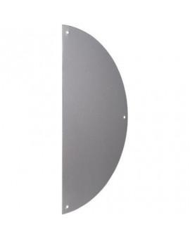 Plaque de propreté 1/2 lune aluminium argent - Duval