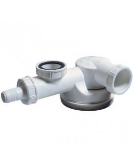 Siphon évier 1 cuve, gain de place - Wirquin Pro