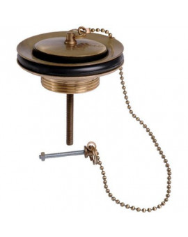Bonde laiton pour évier grès, Ø 60 mm, vieux bronze - Sandri