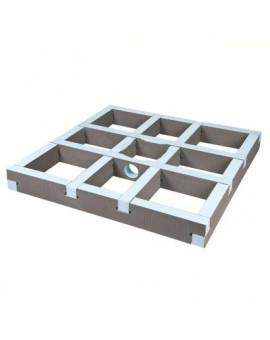 Kit rehausse carré pour écoulement centré - Wedi