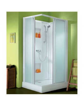 Cabine Izi Box rectangle portes coulissantes - Leda