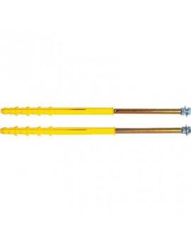 Cheville fixation de radiateur spécial plaque de platre + polystyrène - ING Fixations - 2