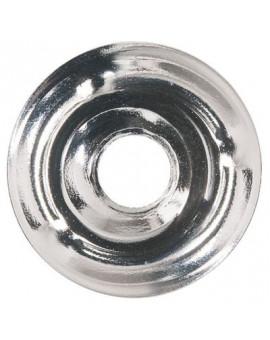Rosace plate laiton chromé - Plombelec