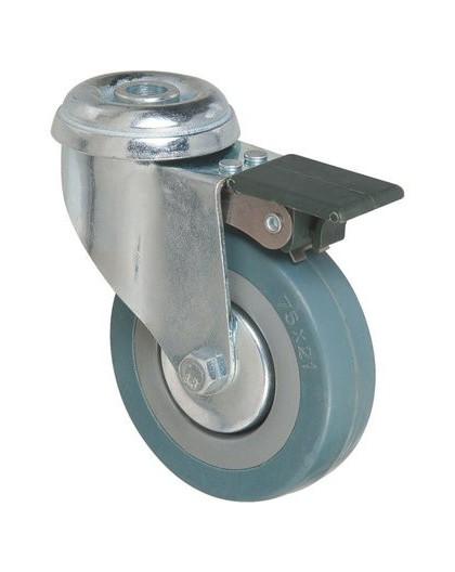 Roulette pivotante à œil à frein série S19 AF - Caujolle