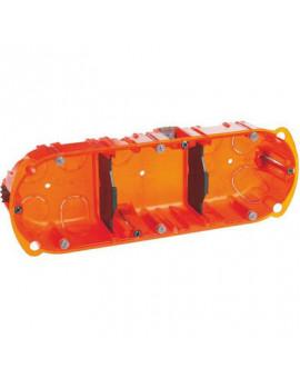 Boîte d'encastrement Batibox multimatériaux 3 postes - Legrand