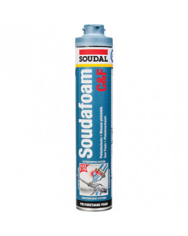 Mousse PU pistolable, soudafoam CLICK & FIX - Soudal