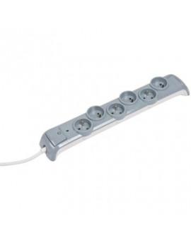Bloc multiprise avec interrupteur et parafoudre 3G1 mm² - L'ébénoïd