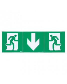 Kit de 3 étiquettes d'évacuation adhésives BAES - Legrand