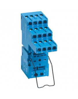 Support avec bornes à cage - série 94 - Pour relais série 55 - Finder