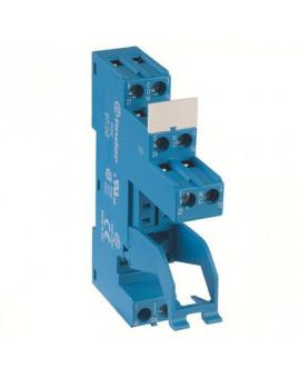 Support avec bornes à cage - Série 97- Pour relais série 46 - Finder