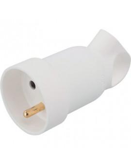 Prolongateur à anneau 2P+T plastique blanc - Legrand