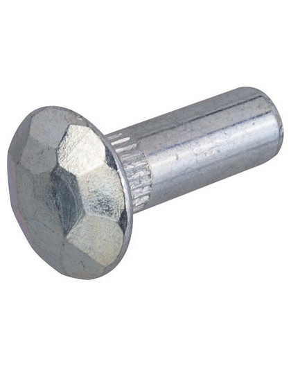 Douille martelée acier zingué blanc - Séléction BricoBati