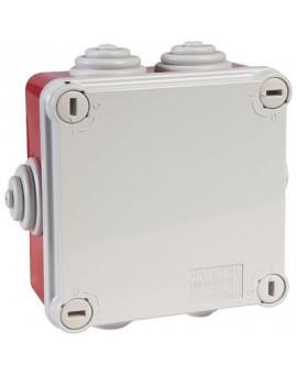 Boîte carrée de dérivation avec passe-fils - rouge - IP55 - Gewiss