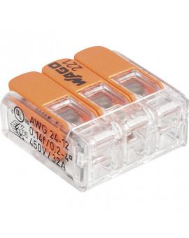 Mini borne de connexion Wago à levier série 221 - Wago