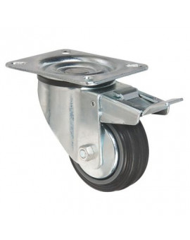 Roulette pivotante avec frein série S2C AF - Caujolle