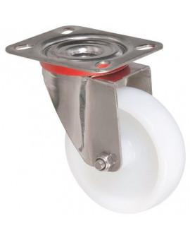 Roulette pivotante série inox - Caujolle