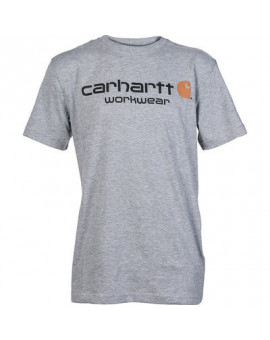 T-Shirt CORE Logo Short Sleeve Gris - Carhartt