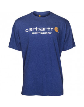 T-Shirt CORE Logo Short Sleeve Bleu - Carhartt