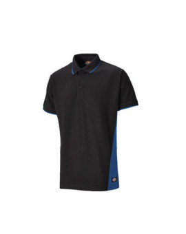 Polo Two Tone Noir/Bleu roi - Dickies
