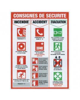 Panneau consignes de sécurité - Novap