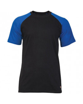 Tee-shirt Baseball 2 TONE Noir/Bleu royal - Dickies