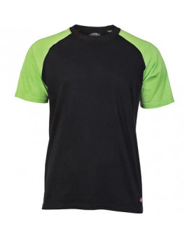Tee-shirt Baseball 2 TONE Noir/Vert - Dickies