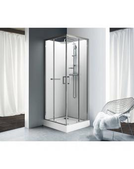 Cabine kara carrée portes coulissantes - Leda