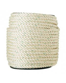 Bobine de corde polyamide nylon blanc - Corderies Tournonaises