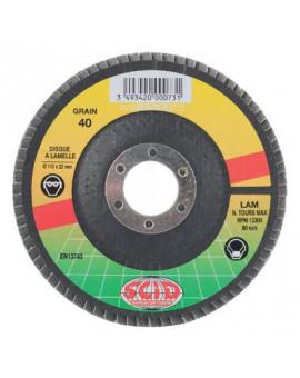Disque à lamelles Zirconium Plat Ø125 - Scid