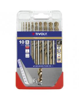 Coffret de 10 forets Technic SLR gradués - Tivoly