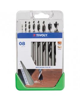 Coffret de 8 mèches à bois - Tivoly