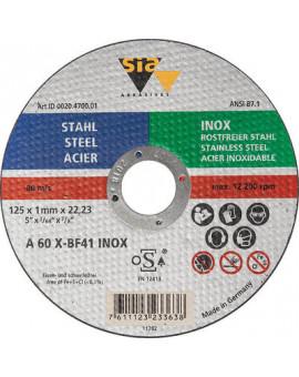 Disque à tronçonner l'acier et l'inox - SIA