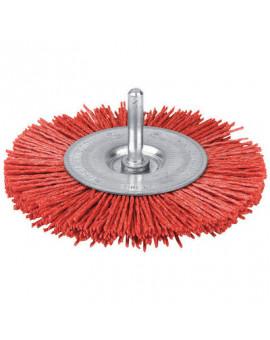 Brosse circulaire nylon rouge - Scid