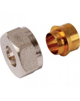 Raccord nickelé pour tube cuivre - Comap