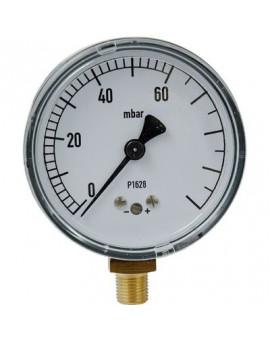 Manomètre gaz radial 0 à 60 mbar - Clesse