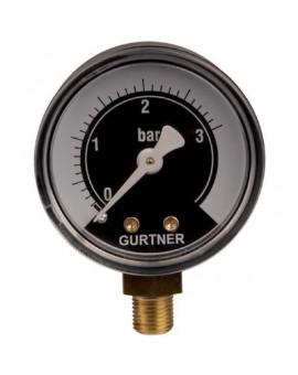 Manomètre gaz radial 0 à 3 bar - Gurtner