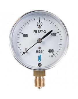 Manomètre gaz radial 0 à 400 mbar - Distrilabo
