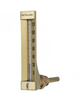 Thermomètre coudé boîtier aluminium pour chauffage - Distrilabo