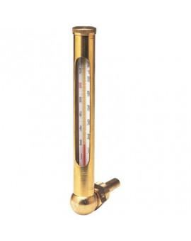 Thermomètre équerre boîtier laiton - Thermador