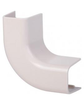 Coude plat 90° plastique rigide beige - Séléction BricoBati