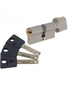 Cylindre à bouton 7 x 7 Varié Nickelé - Mul-T-Lock