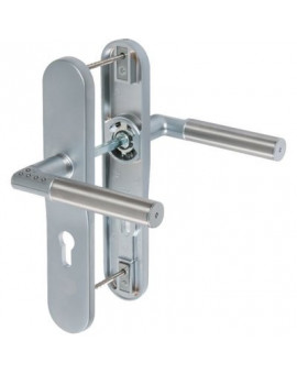 Ensemble béquille double sur plaque inox CODE-IT - Mul-T-Lock