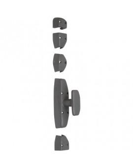 Crémone type MODERNE à bouton pour porte-cochère - Torbel Industrie