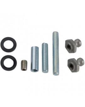 Kit de montage porte bois, métal ou pvc pour poignées inclinées STG - Normbau