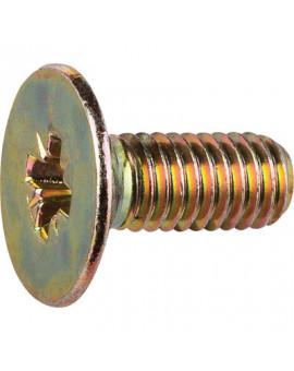 Vis tête fraisée acier zingué jaune 6mm - Séléction BricoBati